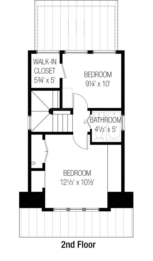 Cottage Floor Plan - Upper Floor Plan Plan #915-2