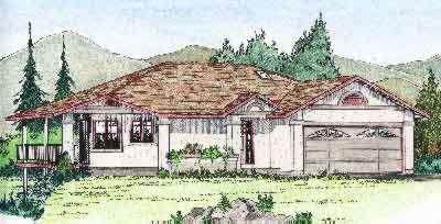 Exterior - Front Elevation Plan #126-122