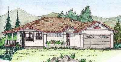 Exterior - Front Elevation Plan #126-122