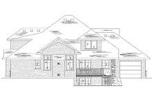 House Plan Design - European Exterior - Rear Elevation Plan #5-391