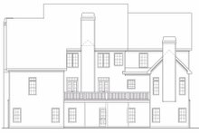Dream House Plan - Traditional Exterior - Rear Elevation Plan #419-174