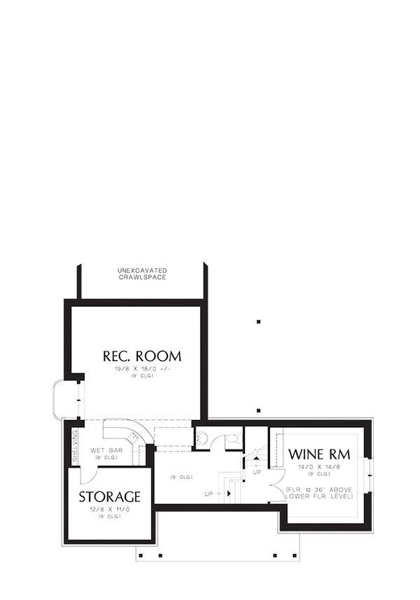 Traditional Floor Plan - Lower Floor Plan #48-244