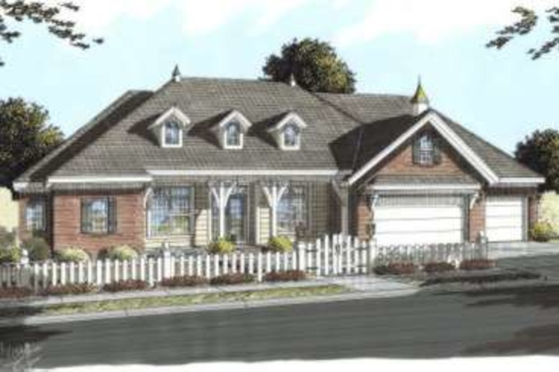 Country Exterior - Front Elevation Plan #20-1676