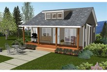 Cabin Exterior - Front Elevation Plan #126-216