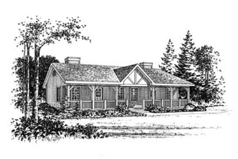 Home Plan - Country Exterior - Front Elevation Plan #22-129