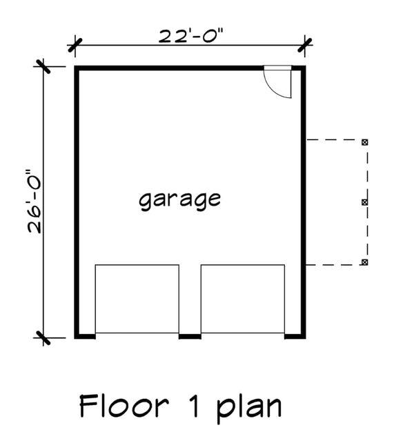 Southern Floor Plan - Main Floor Plan Plan #79-252