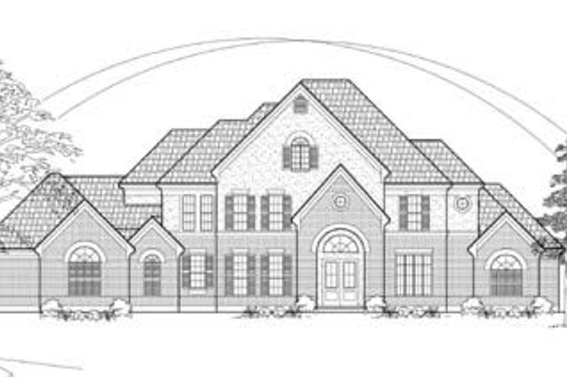 Traditional Exterior - Front Elevation Plan #61-132 - Houseplans.com