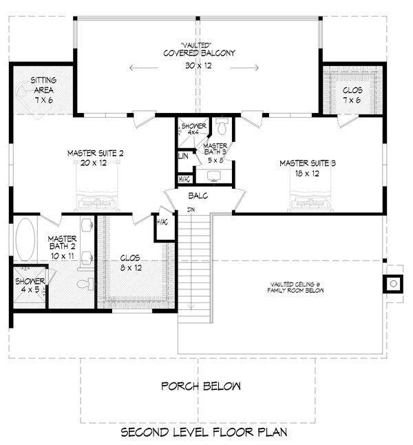 Dream House Plan - Country Floor Plan - Upper Floor Plan #932-351