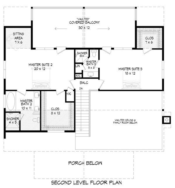 Home Plan - Country Floor Plan - Upper Floor Plan #932-351