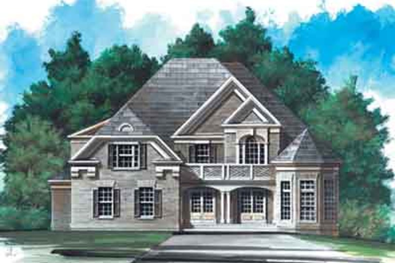 Traditional Style House Plan - 3 Beds 3.5 Baths 2870 Sq/Ft Plan #119-115 Exterior - Front Elevation
