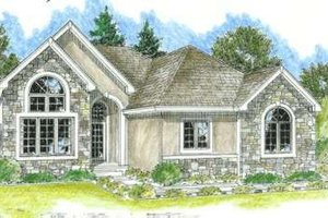Traditional Exterior - Front Elevation Plan #20-1643