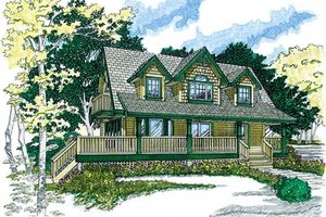 Country Exterior - Front Elevation Plan #47-383