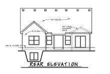 Ranch Exterior - Rear Elevation Plan #20-2304