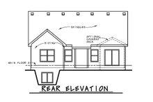 Ranch Exterior - Rear Elevation Plan #20-2304
