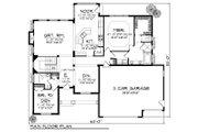 European Style House Plan - 2 Beds 2 Baths 1829 Sq/Ft Plan #70-866 Floor Plan - Main Floor