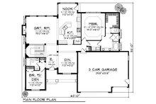 European Floor Plan - Main Floor Plan Plan #70-866