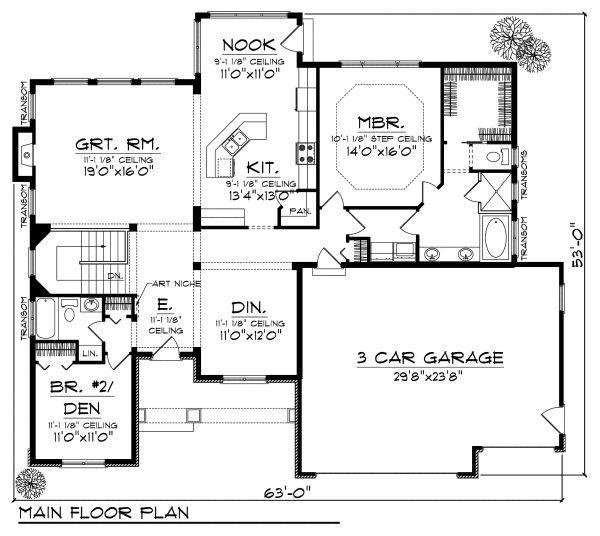 European Floor Plan - Main Floor Plan #70-866