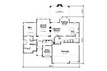 Ranch Floor Plan - Main Floor Plan Plan #20-2306