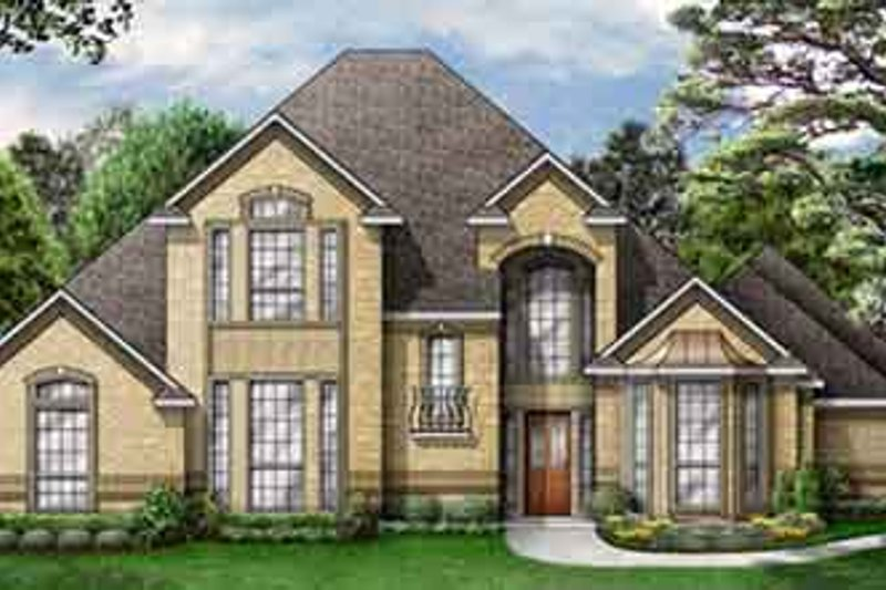 Traditional Style House Plan - 4 Beds 3 Baths 2694 Sq/Ft Plan #84-172 Exterior - Front Elevation