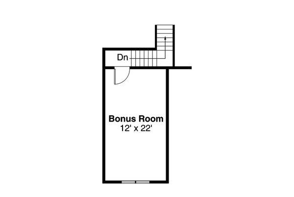 Craftsman Floor Plan - Upper Floor Plan Plan #124-867