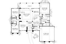 Mediterranean Floor Plan - Main Floor Plan Plan #80-113
