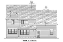 Home Plan - Traditional Exterior - Rear Elevation Plan #20-2319