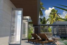 Contemporary Exterior - Covered Porch Plan #484-7