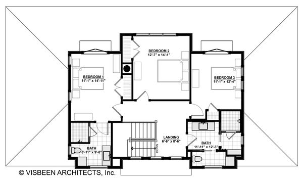 Farmhouse Floor Plan - Upper Floor Plan Plan #928-306