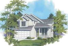 Traditional Exterior - Front Elevation Plan #48-199