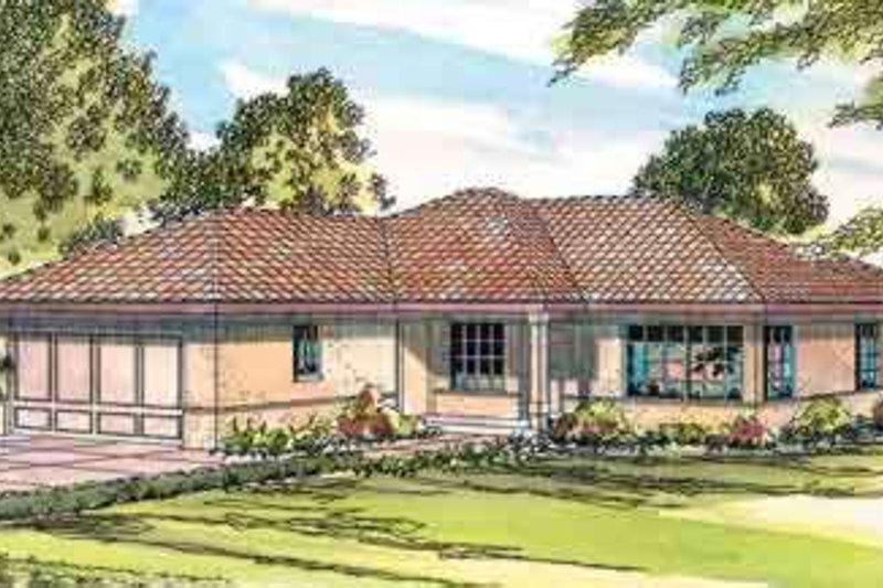 Dream House Plan - Mediterranean Exterior - Front Elevation Plan #124-434
