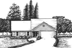 Ranch Exterior - Front Elevation Plan #30-149