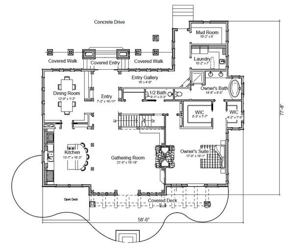 Log Floor Plan - Main Floor Plan Plan #451-27