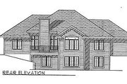 Ranch Style House Plan - 2 Beds 2 Baths 1692 Sq/Ft Plan #70-173 Exterior - Rear Elevation