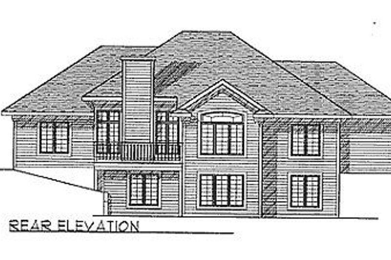 Ranch Exterior - Rear Elevation Plan #70-173 - Houseplans.com