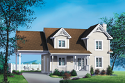 Farmhouse Style House Plan - 3 Beds 2 Baths 1621 Sq/Ft Plan #25-4262 Exterior - Front Elevation