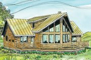 Contemporary Style House Plan - 3 Beds 2.5 Baths 1987 Sq/Ft Plan #124-264 Exterior - Front Elevation