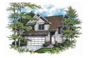 Traditional Style House Plan - 3 Beds 2.5 Baths 1464 Sq/Ft Plan #48-136 Exterior - Other Elevation