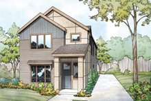 House Plan Design - Contemporary Exterior - Front Elevation Plan #124-1131