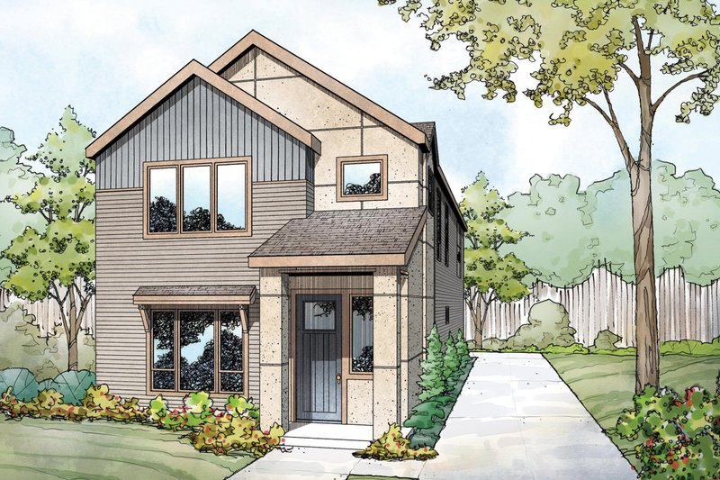 Home Plan - Contemporary Exterior - Front Elevation Plan #124-1131