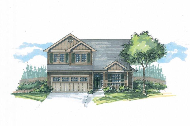 Craftsman Exterior - Front Elevation Plan #53-596