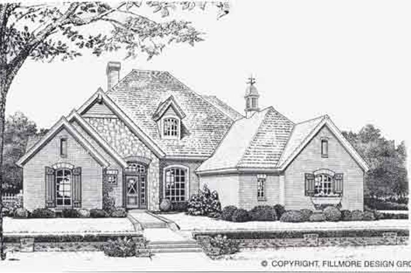 Traditional Style House Plan - 4 Beds 3 Baths 2546 Sq/Ft Plan #310-838 Exterior - Front Elevation