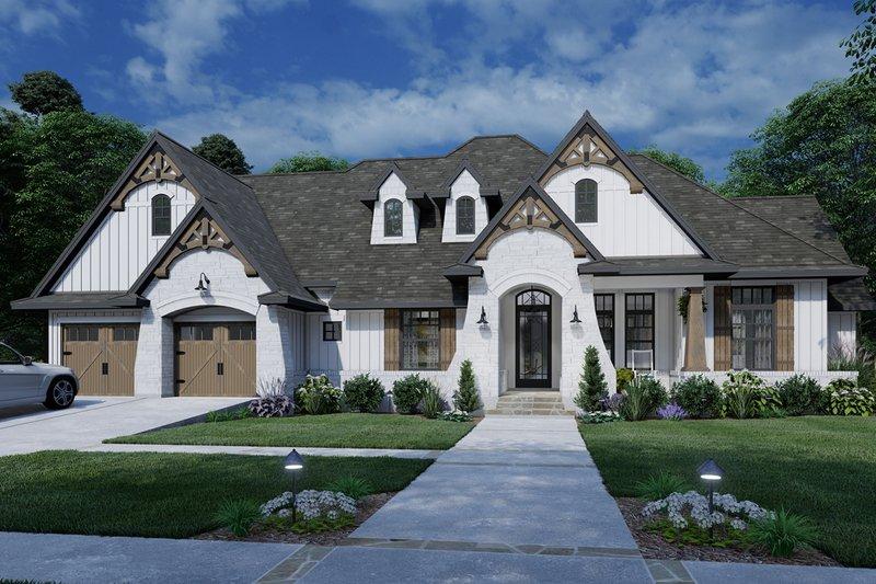 Home Plan - Farmhouse Exterior - Front Elevation Plan #120-264