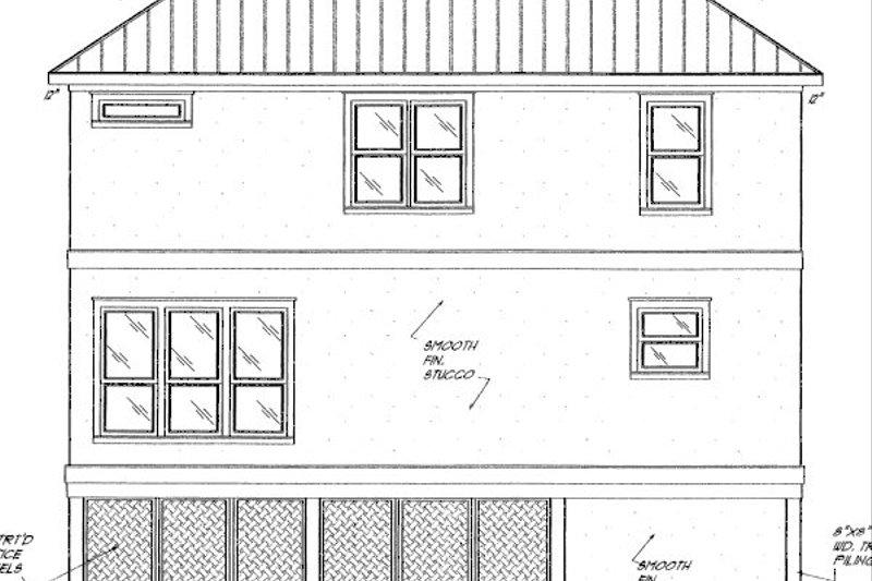 Beach Exterior - Rear Elevation Plan #37-151 - Houseplans.com