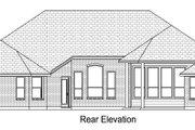 European Style House Plan - 4 Beds 3 Baths 2715 Sq/Ft Plan #84-617 Exterior - Rear Elevation