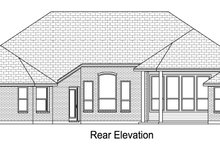 European Exterior - Rear Elevation Plan #84-617