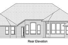 Home Plan - European Exterior - Rear Elevation Plan #84-617