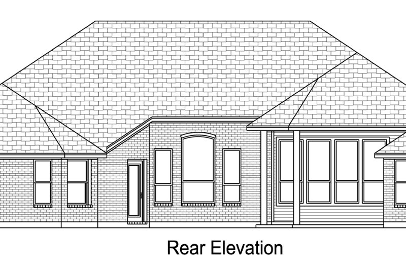 European Exterior - Rear Elevation Plan #84-617 - Houseplans.com