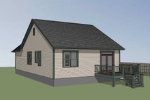 Farmhouse Exterior - Rear Elevation Plan #79-159