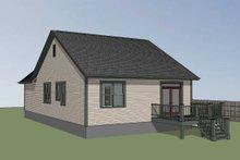 House Plan Design - Farmhouse Exterior - Rear Elevation Plan #79-159