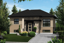 Home Plan Design - Contemporary Exterior - Front Elevation Plan #25-4265